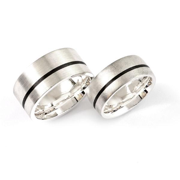 Partnerringe Silber Carbon (1007784)